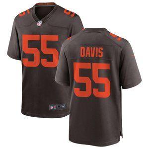 Browns Donovan Tae Davis  Brown Jersey